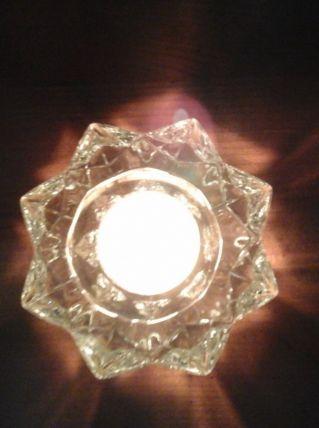 Bougeoir verre ou cristal
