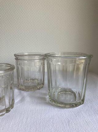 3 pots à confiture anciens