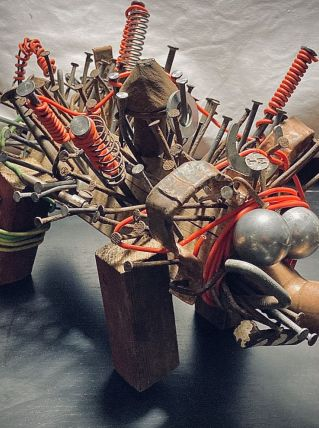 Sculpture art brut -recup