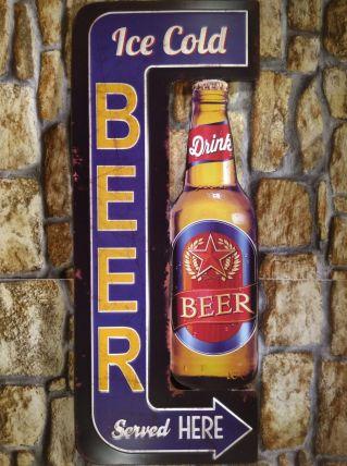 PLAQUE METAL BEER NEUVE