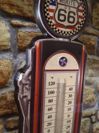 GRAND THERMOMETRE ROUTE 66 NEUF