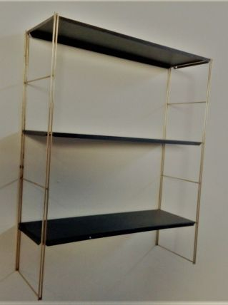 etagere  ( tomado) original 1950 a 1960 or et black satin  6