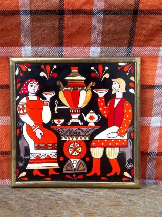 Cadre en céramique émaillée