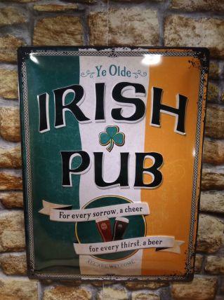 PLAQUE METAL IRISH PUB