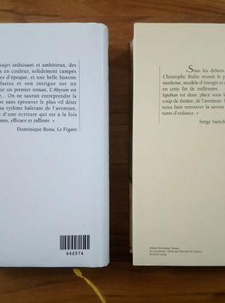 Lot de 2 romans d'aventures de JC Ruffin