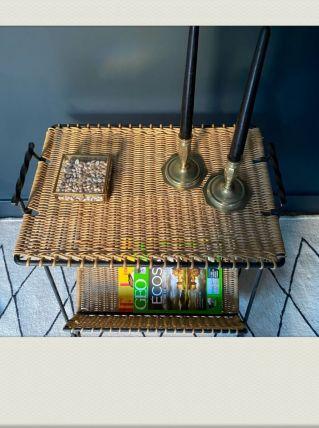 Table I Bout de canapé Rotin