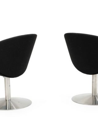 Paire de fauteuils pivotant en acier de Peter Hiort-Lorenzen