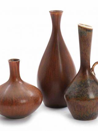Carl-Harry Stålhane: Trois vases en grès
