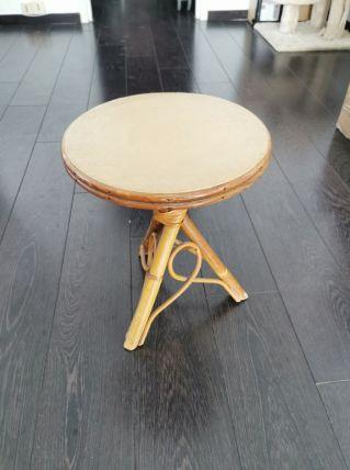 Table basse en bambou vintage