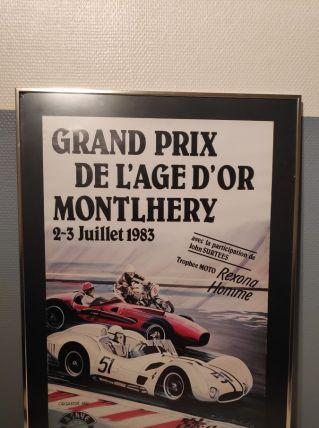 """affiche """"grand prix de l'âge d'or Montlhéry"""""""