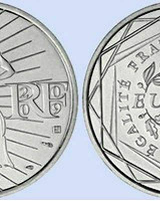 pièce en argent de 10 euros LA SEMEUSE année 2009