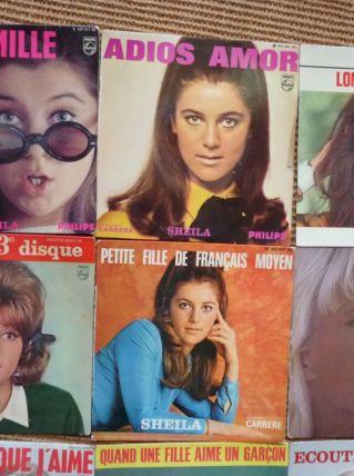 lot de 11 disques vintage 45t Vartan Sheila Claude François