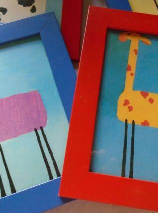 4 petits tableaux