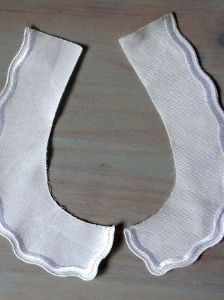 Col blanc en piqué de coton ancien