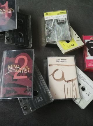 Lot de 5 cassettes italiennes - Battisti et Mina