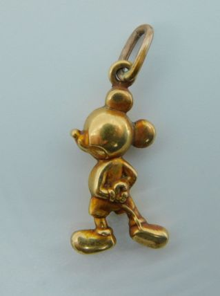 Mickey Mouse - Pendentif - Or plaqué