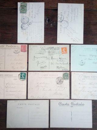 Paris - 10 cartes postales anciennes (lot5)