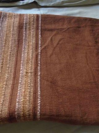 Plaid en coton tissé