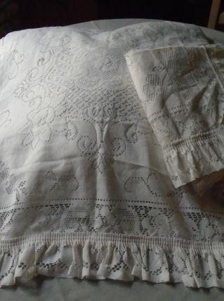 2 Taies oreiller ou coussin dentelle