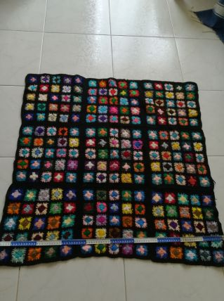 Plaid bébé carré afghan crochet