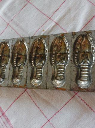 Moule chocolatier ancien Letang homards