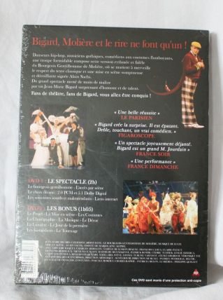 DVD Le Bourgeois Gentilhomme Jean-Marie Bigard