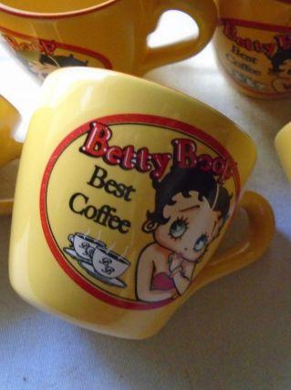 6 tasses Betty Boop
