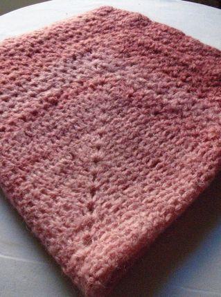 Plaid en laine mohair crochetée