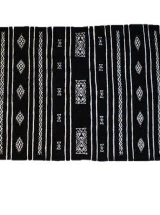 Tapis kilim berbère fait main en laine noir