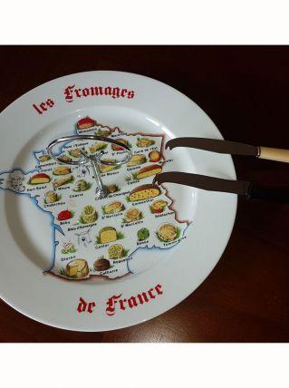 Plateau fromages de France et 2 couteaux