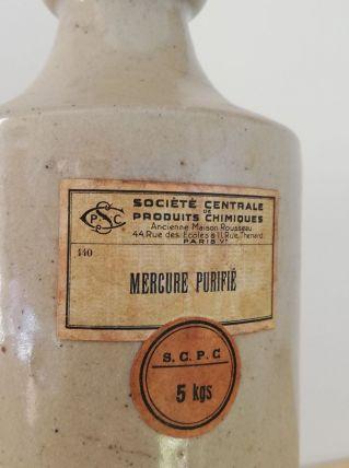 Flacon ancien de mercure