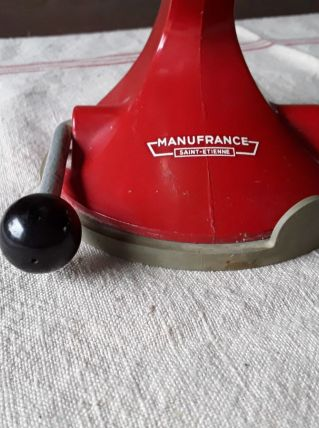 Ancien hachoir manuel Manufrance - rouge