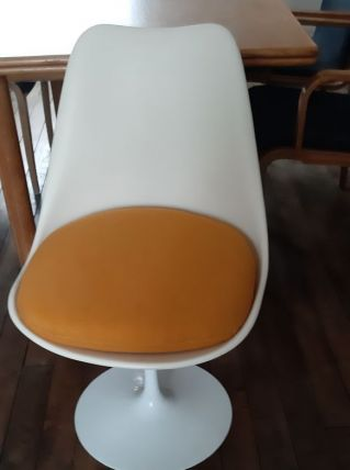 Lot de 3 chaises tulipe Saarinen knoll de 1970