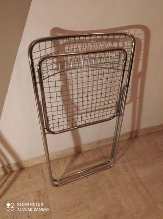 Chaise pliante grillage année 60/70 niels gammelgaard