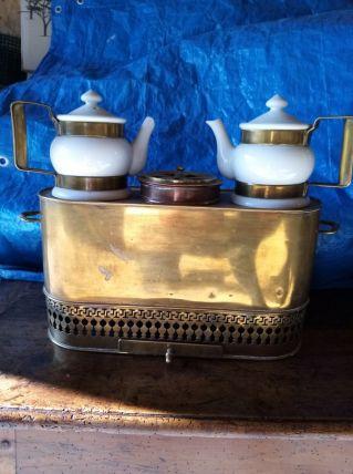 chauffe cafetière en cuivre