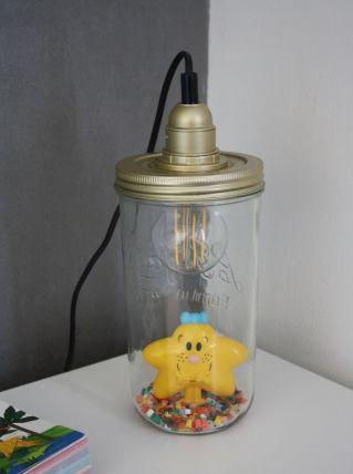 """LAMPE À POSER RÉCUP' """"MONSIEUR/MADAME"""""""