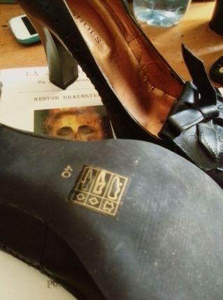 """Escarpin en Cuir Veritable NOIR """" Eden Shoes"""""""