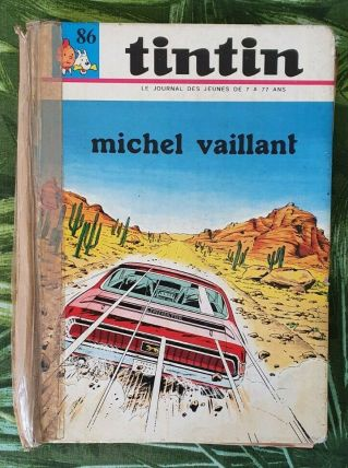 BD ALBUM JOURNAL DE TINTIN N°86 MICHEL VAILLANT DARGAUD 1970