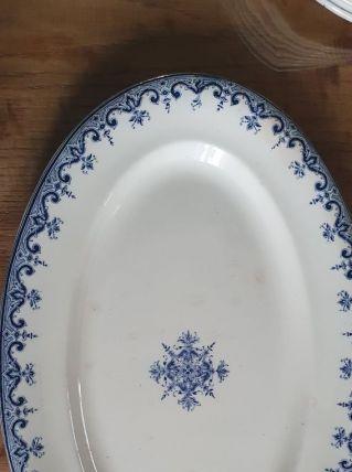 Plat ovale faïence de Rouen XIXeme