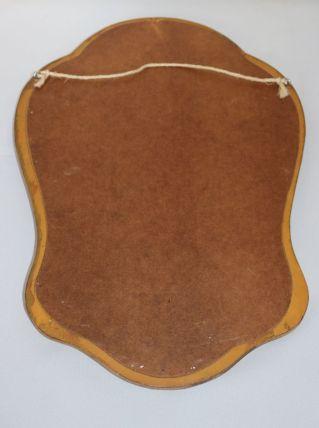 Miroir en bois doré vintage