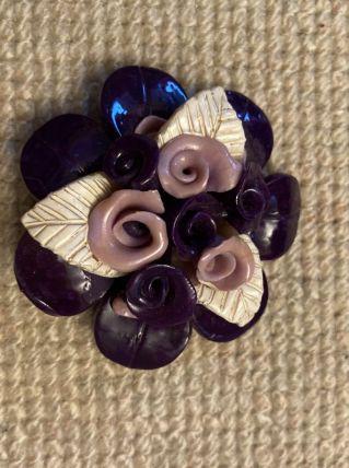 Broche vintage à fleurs