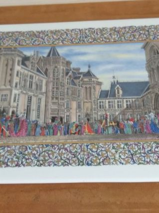 Tableau sur faïence Jacques Coeur et Bourges