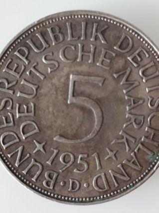Pièce de 5 Deutschmark 1951