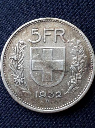 Monnaie Suisse 5 Frs 1932