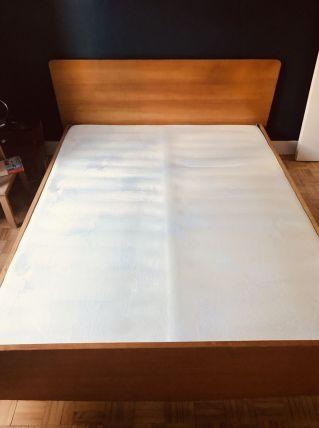 Lit en bois vintage 140x190