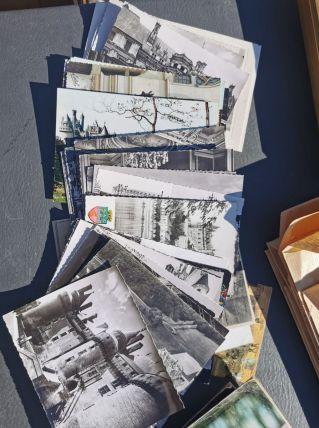 LOT de cartes postales en noir et blanc
