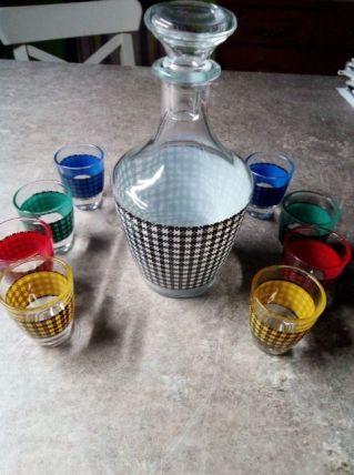 Ancien service à ,liqueur Vintage