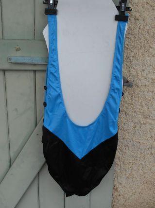 maillot de bain vintage bleu et noir t 44-46 tbe