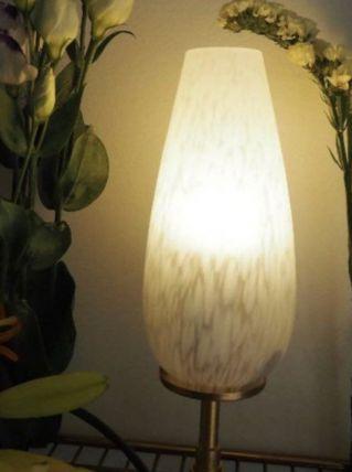 Lampe à poser en verre de Clichy