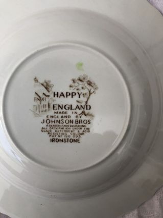assiettes creuses Happy England